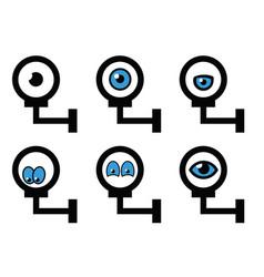 Safety security surveillance video camera eye cctv vector