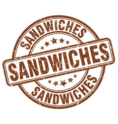 Sandwiches stamp vector
