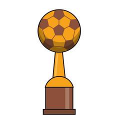 Soccer trophy sport golden image vector