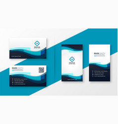 stylish blue corporate business card design vector image