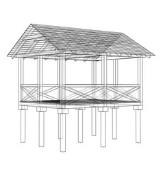 summer house sketch vector image
