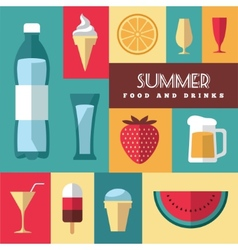 Summer icons set 3 vector image