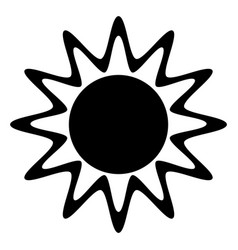 Sun summer isolated icon vector