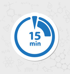Timer flat icon vector
