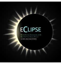 Total eclipse sun vector