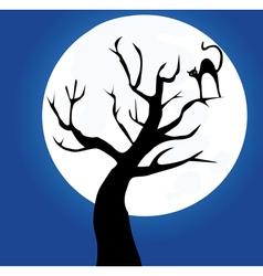 Tree cat vector