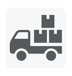 truck delivery icon on white vector image