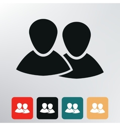 two people icon vector image