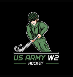 us army world war 2 hockey vector image