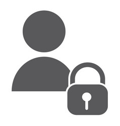 user unlocked glyph icon privacy and safety vector image
