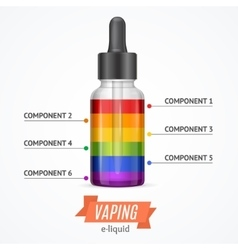 Vaping Components Constructor Infographics vector