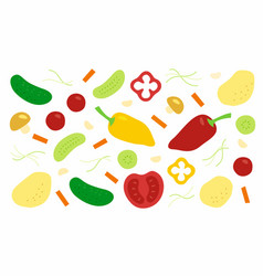 vegetables in simple style vector image