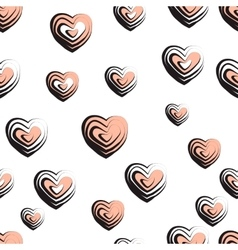 wave textured hearts vector image