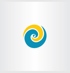 wave water tourism logo symbol element vector image