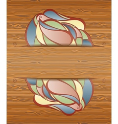 Wood texture with layout vector image