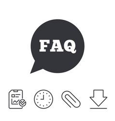 faq information sign icon help symbol vector image