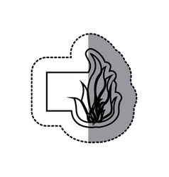 figure emblem sticker fire icon vector image