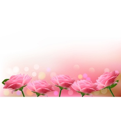Holiday background with pink flowers vector image