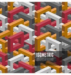 Isometry background vector image