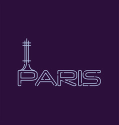 paris city logo in line style abstract silhouette vector image