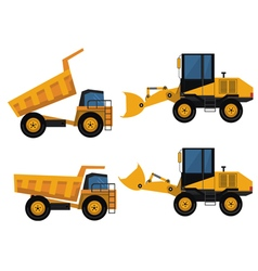 Set of icons construction equipment vector image