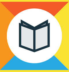 textbook colorful outline symbol premium quality vector image