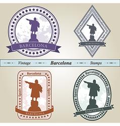 Vintage stamp Barcelona vector image