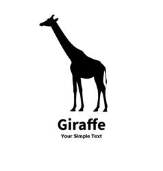 a silhouette of a giraffe vector image vector image