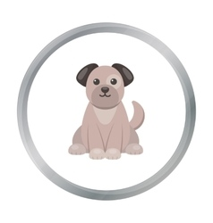Dog icon in cartoon style isolated on white vector image
