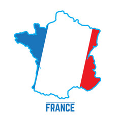 flag and map of france vector image vector image
