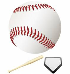 major league baseball elements vector image