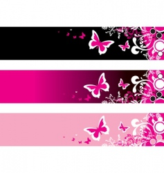 Pink floral vector