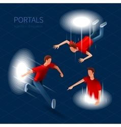 Way Out Portals Set vector image vector image