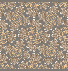 Abstract floral seamless pattern swirl texture vector