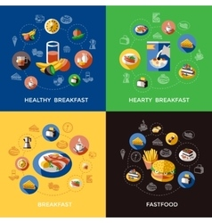 Cereal icon set vector