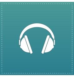 Headphone flat icon vector image vector image