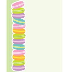 Macaron border vector