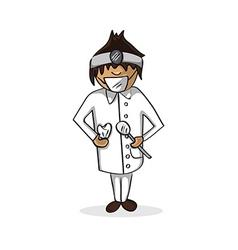 Professional dentist man cartoon figure vector image vector image