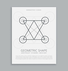 sacred line geometry vector image vector image
