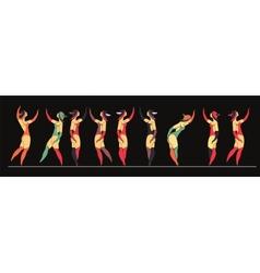 set of circus dancer poster vector image vector image