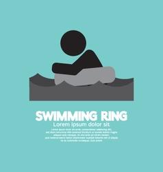 Black Symbol Swimming Ring vector image vector image