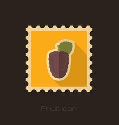blackberry bramble flat stamp berry fruit vector image vector image