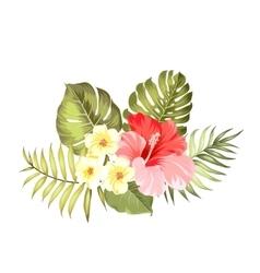 Floral garland card vector image