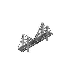 isolated highway isometric bridge element vector image