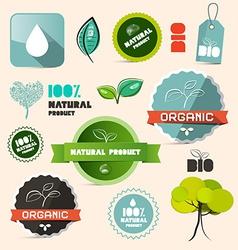 Organic Natural Product Retro Labels - Tags - vector image