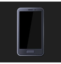 Realistic Smart Phone on Dark Background vector image