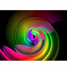 spectrum swirl vector image vector image
