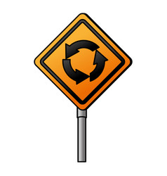 traffic signal round point vector image