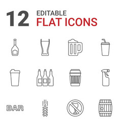 12 beer icons vector