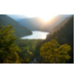 a beautiful mountain landscape near a lake vector image
